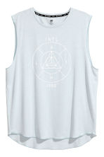 Sleeveless sports top - Light blue - Men | H&M CN 2
