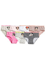 7-pack cotton briefs - Powder pink/Minnie Mouse - Kids | H&M CN 1