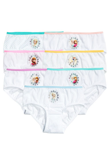 7-pack cotton briefs - White/Frozen - Kids | H&M 1