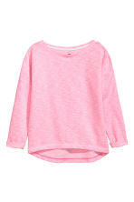 Sweat - Rose fluo chiné -  | H&M FR 2