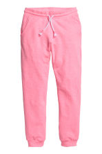 Pantalon en molleton - Rose fluo chiné -  | H&M FR 2