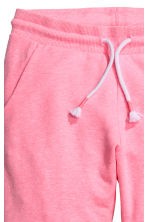 Pantalon en molleton - Rose fluo chiné -  | H&M FR 3