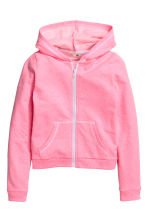 Hooded jacket - Neon pink marl -  | H&M CN 2
