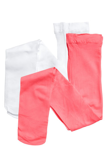 2-pack thin tights - Neon pink - Kids | H&M 1