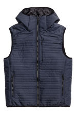 Padded bodywarmer - Dark blue - Men | H&M 2