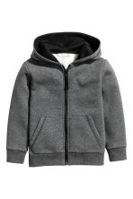 Hooded jacket - Dark grey marl - Kids | H&M 1