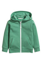 Hooded jacket - Green -  | H&M 2