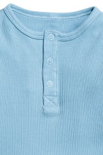 Long-sleeved Henley shirt - Blue -  | H&M 2