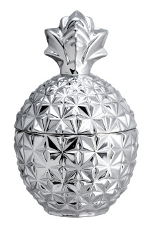 Pineapple-shaped glass jar