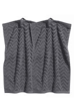 2-pack guest towels - Dark grey - Home All | H&M CN 1
