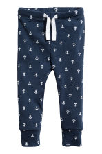 Jersey trousers - Dark blue/Anchor - Kids | H&M CN 1