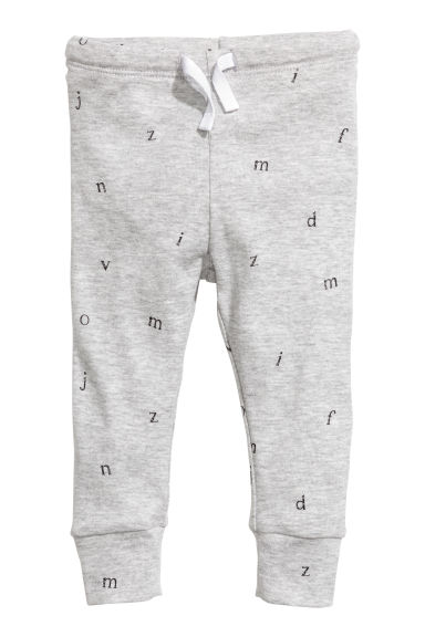 Jersey trousers - Grey/Letter - Kids | H&M 1
