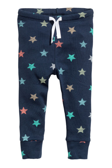 Jersey trousers - Dark blue/Stars - Kids | H&M 1