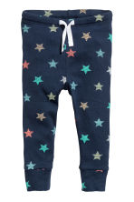 Jersey trousers - Dark blue/Stars - Kids | H&M CN 1