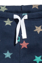 Jersey trousers - Dark blue/Stars - Kids | H&M CN 2