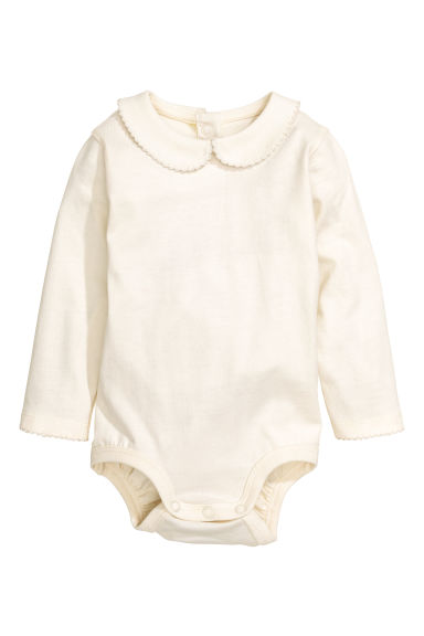有領連身衣 - Natural white - Kids | H&M 1
