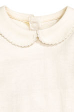 Bodysuit with a collar - Natural white - Kids | H&M 2
