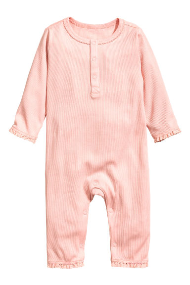 Jersey romper suit - Light pink -  | H&M 1