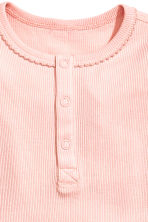 Jersey romper suit - Light pink -  | H&M 2