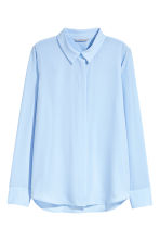 Long-sleeved blouse - Light blue - Ladies | H&M 2