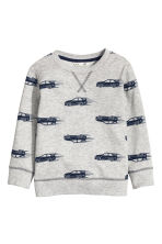 Sweatshirt - Grey/Cars - Kids | H&M 2