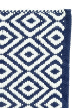 Jacquard-weave bath mat - Dark blue/Patterned - Home All | H&M CN 2