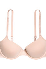 2-pack T-shirt bras - Black/Light beige - Ladies | H&M CN 3