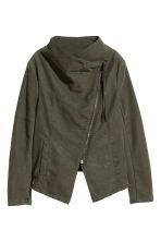 Biker jacket - Khaki green - Ladies | H&M 2