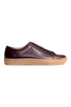 Leather trainers - Burgundy - Men | H&M CN 2