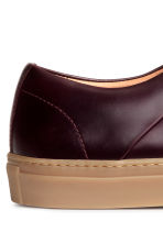 Leather trainers - Burgundy - Men | H&M CN 5