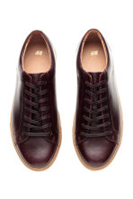 Sneakers in pelle - Bordeaux - UOMO | H&M IT 3