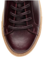 Leather trainers - Burgundy - Men | H&M CN 4