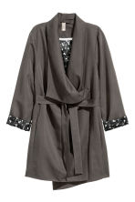 Draped coat - Dark grey - Ladies | H&M 2
