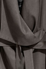 Draped coat - Dark grey - Ladies | H&M 3