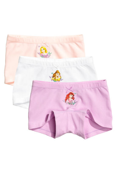3-pack boxer briefs - Purple/Disney Princesses - Kids | H&M 1