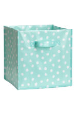 Storage box - Turquoise/Spotted - Home All | H&M CN 1