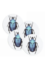 4-pack coasters - White/Beetle - Home All | H&M CN 1