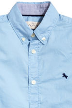 Cotton shirt - Light blue - Kids | H&M CN 4
