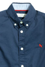 Cotton shirt - Dark blue - Kids | H&M CN 3