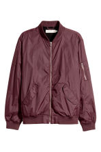 Bomber jacket - Plum - Men | H&M 2