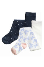 2-pack tights - Dark blue/Spotted - Kids | H&M 1