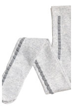 2-pack tights - Light grey/Glittery - Kids | H&M 2