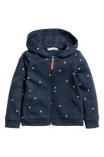 Hooded jacket - Dark blue/Spotted - Kids | H&M 2