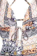 Cut-out swimsuit - White/Patterned - Ladies | H&M CN 3