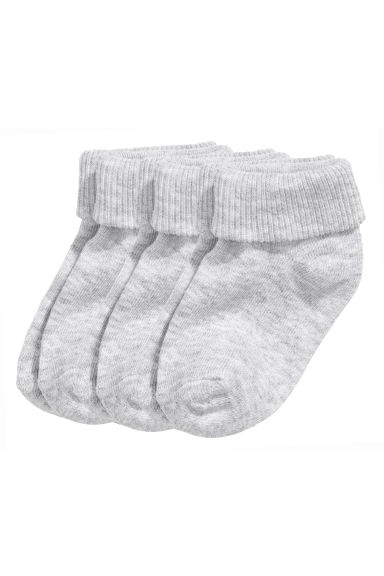 3-pack socks - Grey - Kids | H&M 1