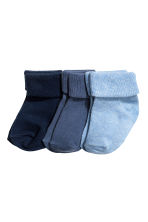 3-pack socks - Dark blue - Kids | H&M CA 2