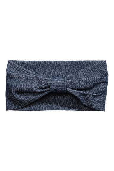 Hairband with a knot - Dark blue - Ladies | H&M CN 1