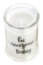 Scented candle in a glass jar - White/Wild flower - Home All | H&M CA 3