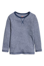 Long-sleeved T-shirt - Dark blue/Narrow striped -  | H&M 2