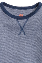 Long-sleeved T-shirt - Dark blue/Narrow striped - Kids | H&M 3